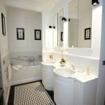 Łazienka wyłożona kafelkami projektu Zienia dla firmy Tubadzin