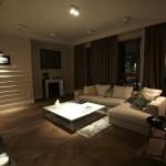 Salon zaprojektowany przez Zień Home